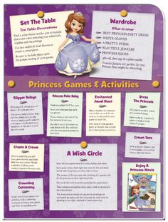 Sofia the First Printable Princess Party Games  Activities @Nicki Clark Clark Clark Hyde since she wants a Sofia party next year :)