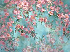 Wallpaper Mural Tricks: How to Choose and Install Decoupage Vintage, Decoupage Paper, Foto Poster, Flower Wallpaper, Vintage Flowers, Flower Art, Design Elements, Art Drawings, Art Prints