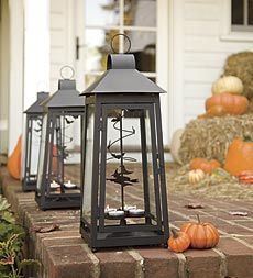 twirling witch and bat Halloween lanterns