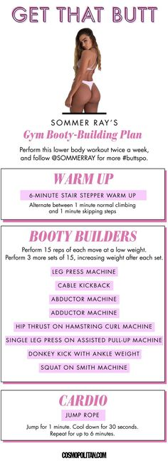 Bubble Butt Workout - Learn About These Ideas To Attain Proper Fitness Motivation Poster, Fitness Motivation, Fit Girl Motivation, Fitness Goals, Motivation Quotes, Fitness Tracker, Workout Instagram, Instagram Stars, Sommer Ray Instagram