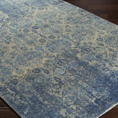 Surya Edith Blue Hand Loomed Wool Rug @Zinc_Door