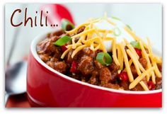 Yummy chili con carne recipe with a lot of meat (carne). These are great!