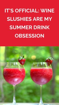 It's Official: Wine Slushies Are My Summer Drink Obsession | A bottle of wine and a bag of frozen fruit are all you need to get a the party started this summer.