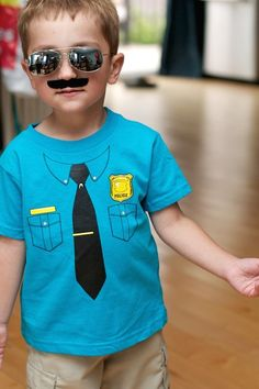 police birthday party clothing