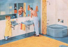 1955 American Standard bathroom fromLiving for Young Homemakers.