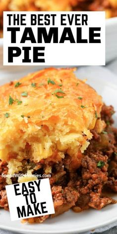 Mexican Dishes, Mexican Food Recipes, Mexican Pie, Cabbage Recipes, Ethnic Recipes, Easy Casserole Recipes, Tamale Casserole, Mexican Casserole, Casserole Dishes