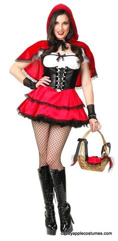 Adult Running From the Wolf Red Riding Hood Costume - Candy Apple Costumes - Red Riding Hood Costumes
