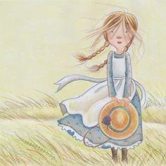 illustration of Colored Pencil, Painterly, Watercolor, Children, Children's Books, Children's Products, Landscape, Americana, Feminine, Youth