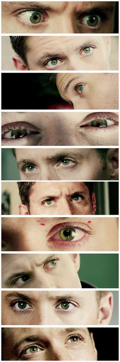 [gifset] Dean's gorgeous green eyes! <3 #SPN #Dean <--- His eyes are beautiful so can we please not keep them black? PLEASE?!