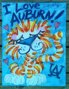 ART Cute Auburn Painting!