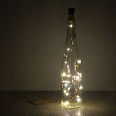 2m/6.5ft 20-LED Copper Wire String Light with Bottle Stopper for Glass Craft Bottle Fairy Lamp Valentines Wedding Party Xmas