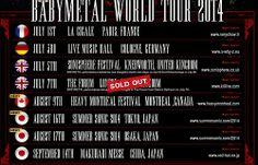 """""""rosamour:  2012年から3年連続となるSUMMER SONIC出演が決定!! 今年夏、BABYMETALが海外フェスで競演するMETALLICA、SLAYER、ANTHRAXの「THE BIG 4」最後の砦となるMEGADETHも出演する、ラウド・メタル色に染まったマウンテンステージで「メタルレジスタンス」が再び巻き起こる!!東京公演 2014年8月16日(土)/8月17日(日) QVCマリンフィールド&幕張メッセ OPEN 9:00am/START 11:00am-前売り1日券 ¥15,500(税込・ブロック指定) 大阪公演 2014年8月16日(土)/8月17日(日) 舞洲サマーソニック大阪特設会場 OPEN 10:00am/START 11:00am-前売り1日券 ¥13,000(税込) OFFICIAL SITE: www.summersonic.comhttp://..."""
