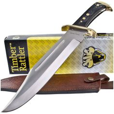 Timber Rattler TR65 Western Outlaw Huge Bowie Knife | MooseCreekGear.com | Outdoor Gear — Worldwide Delivery! | Pocket Knives - Fixed Blade Knives - Folding Knives - Survival Gear - Tactical Gear