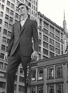 """Supersized Model Portraits : details magazine. Jeremy Matos and Richard Detwiler star in """"Scale Model"""", a super-sized editorial exclusive for Details magazine. The newcomers are captured by photographer Christopher Griffiths' lens while donning an elegant wardrobe of tailored suit garments."""
