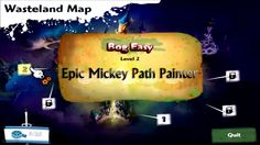 Epic Mickey Path Painter - Level 2 Bog Easy Gameplay - Disney Epic Mickey Games