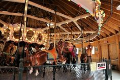 A preserved 19th century carousel factory is now a museum dedicated to the classic wooden ride.