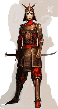 NPC Character Concept from Guild Wars Factions