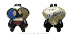 """Believe"" Reversible Nativity Heart Stone with Stand"