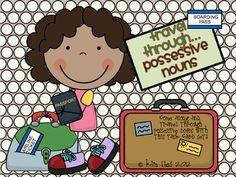 Travel Through Possessive Nouns Task Card Deck Ela Classroom, Classroom Tools, Classroom Language, Classroom Ideas, Singular And Plural Nouns, Possessive Nouns, 3rd Grade Writing, 3rd Grade Reading, Card Deck