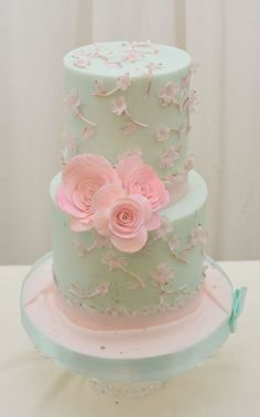 Double Sugar  impatient flowers Cake ~ all edible