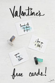 Free Valentines Cards | Inspiration Nook