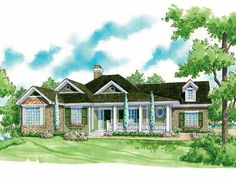 Eplans Country House Plan - Front and Rear Porches - 1526 Square Feet and 3 Bedrooms from Eplans - House Plan Code HWEPL06514