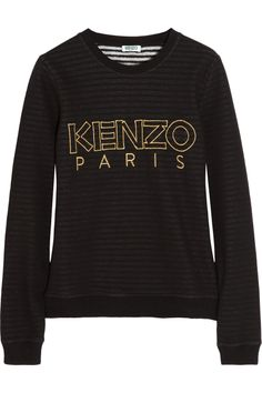 KENZO | Striped-lining cotton sweatshirt | NET-A-PORTER.COM $265