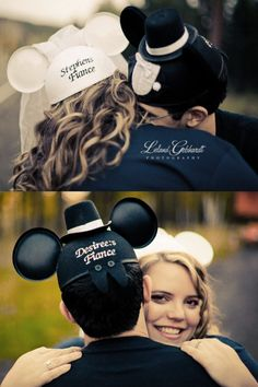 Adorable disney engagement photo shoot  Doing this too! So many cute disney themed wedding ideas, never thought id say that!
