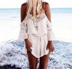 Fabric: Lace Color: White Size: S, L, M, XL