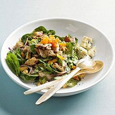 Turkey and Apricot Bread Salad From Better Homes and Gardens  http://www.bhg.com/recipe/turkey-and-apricot-bread-salad/