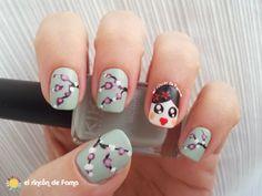 RETO HI5 _ CINE cherry blossom geisha  nails