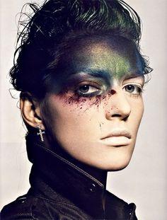Peintures de Guerre for Vogue Paris Nov 2009 // Photographer: Tyen //  Featured: Dior, Balmain, Surplus Doursoux