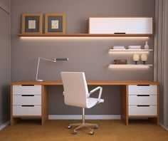 Illuminated Shelving home office
