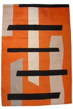"Vintage 1960s French Design Studio Art Carpet by Jacques Borker  72"" X 60"""