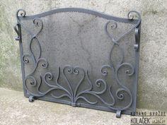Mreza za kamin od kovanog gvozdja (Brno; CZ). Kolacek 1897