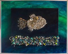 silver fish by Cecilia Adams, via Behance