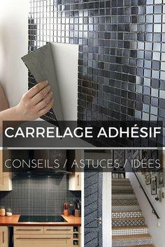 Carrelage Adhésif : Tout Ce Que Vous Devez Savoir ! Adhesive Tiles, Home Staging, Interior Design Living Room, Interior And Exterior, Diy Home Decor, Home Improvement, Sweet Home, New Homes, Architecture