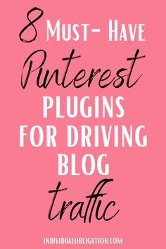 These must-have Pinterest WordPress plugins for your WordPress blog are essential for any blogger if you want to grow your blog + get more blog traffic from Pinterest marketing. Click here to get these WordPress blogging + Pinterest tips that are blogging for beginners friendly for your blog + website. So you can increase your blog traffic + make money blogging with a profitable blog! #BloggingTips #PinterestTips #BlogTips #PinterestMarketing #SocialMediaTips #WordPressTips #BlogTraffic