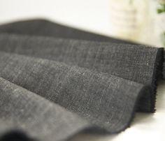 Charcoal black linen