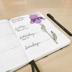 18 Super-Pretty Bullet Journal Weeklies. Inspirational layouts for your journals, planners, and notebooks. And a beautiful watercolor-painted flower can't hurt!
