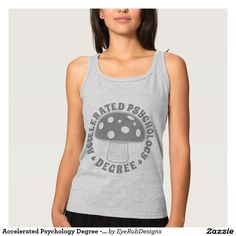 Accelerated Psychology Degree - Psychedelics, Gray Basic Tank Top for Responsible Users of Psychedelic Plants, Psilocybin and Magic Mushrooms Enthusiasts - #psychedelic #mushrooms #magicmushrooms #hallucinogen #shaman #shrooms #fungi #shrooming #trippy #psilocybin #mushroomhunting #mycelium #mycology