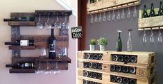 Meubles en palette de bois pour ranger votre vin! Voici 18 idées créatives…