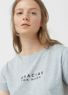 8 Camiseta algodón mensaje | MANGO