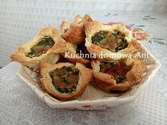 Kuchnia domowa Ani: Koszyczki z ciasta francuskiego ze szpinakiem i serem Feta, Breakfast, Morning Coffee