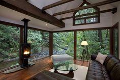 cabin forest - Buscar con Google