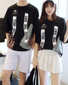 CC01598 Loose summer couple clothes printing school uniforms Couple Clothes, Couple Outfits, Cheap Clothes, Summer Picture Outfits, Summer Couples, School Uniforms, Summer Pictures, Woman Face, Girl Quotes