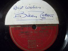 """Rare Billy Cotto autographed record for very low Special Price:-)  2nd 78rpm springtimeauction 78rpm with many Raritys :-)  !!! Low Startprice !!! Worldwide shipping !!!  BILLY COTTON & HIS BAND """"You Can't Do That There 'ere"""" autographed Zonophone 10"""""""
