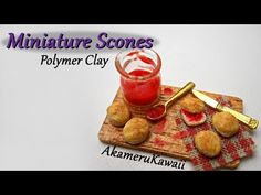 Today's video is on miniature scones ^^ It's a simple but cute miniature that can be made in different scales :) If you have requests for future cla. Polymer Clay Miniatures, Polymer Clay Projects, Diy Clay, Dollhouse Miniatures, Halloween Miniatures, Barbie Food, Doll Food, Barbie Barbie, Clay Tutorials
