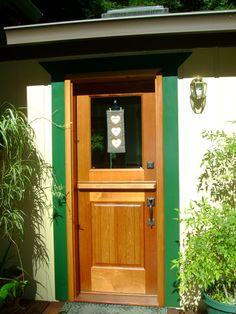 Exterior Dutch Door | DD205 Glass Panel Model | www.VintageDoors.com Dutch Doors, Glass Panels, Tall Cabinet Storage, Cottage, Exterior, Decoration, Model, Furniture, Ideas