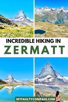 If you were to do just 1 hike in the Zermatt region, make it this Gornergrat hike! The Sun Trail from Gornergrat to Riffelberg descends along the Gornergrat Bahn and takes you through cascading glaciers, stunningly beautiful lakes and lush meadows! The Gornergrat hike is the best to enjoy fantastic views of the mighty Matterhorn & the beautiful lake, Riffelsee. Hiking in Switzerland | Hiking in Zermatt | Best trails in Switzerland | Best things to do in Zermatt | #myfaultycompass… Europe Destinations, Europe Travel Guide, Amazing Destinations, Travel Guides, Travel Abroad, Travel Advice, European Vacation, European Travel, Cool Places To Visit